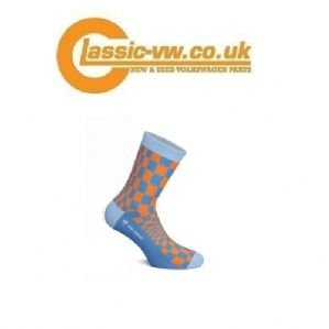 Heel Tread Porsche Pasha Socks (Orange/Blue)
